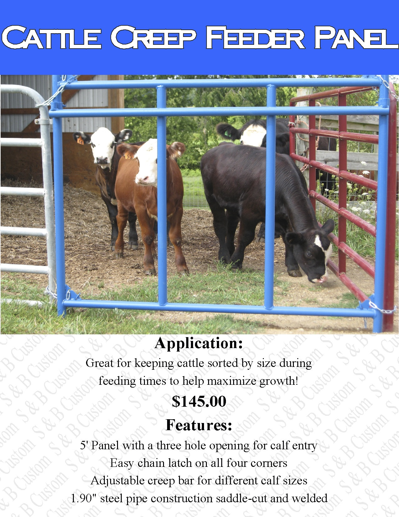 Creep Feeder Plans For Calves