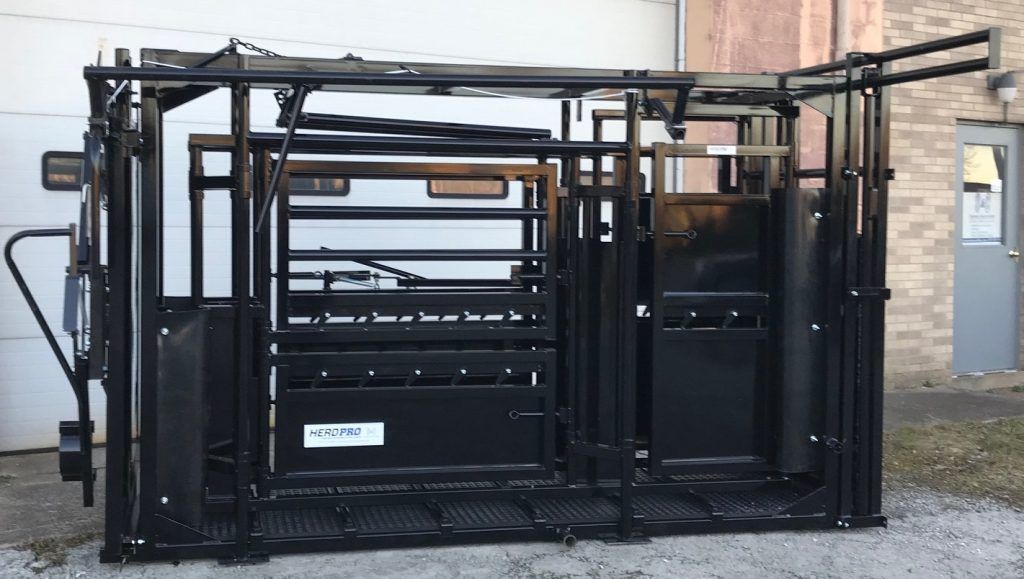 Cattle Chute with Palp cage