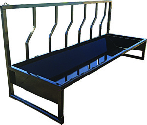 One Sided Metal Feed Bunk